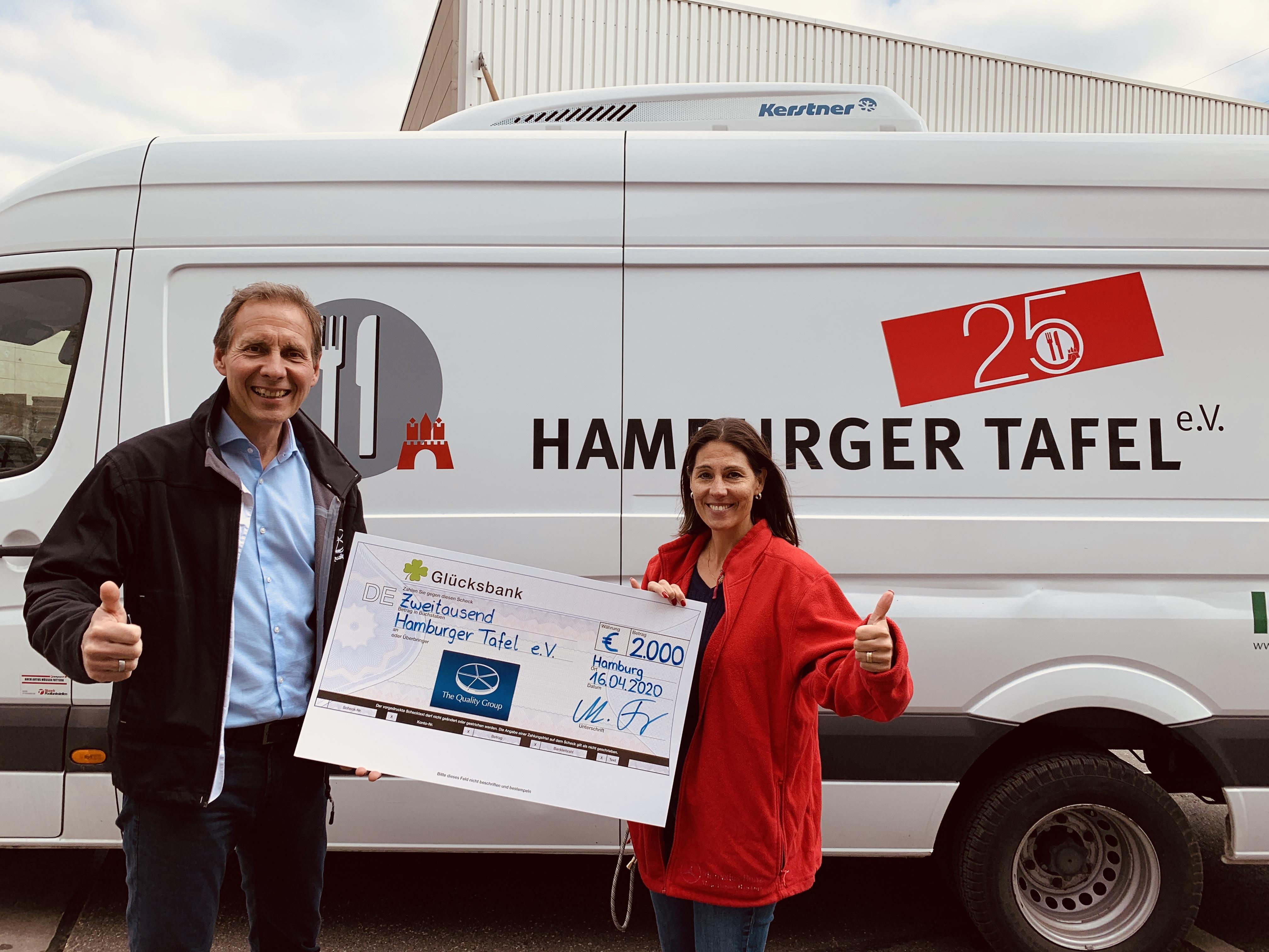 The Quality Group Lottery Solutions GmbH (TQG-LS) erneute Spende für soziale Einrichtung