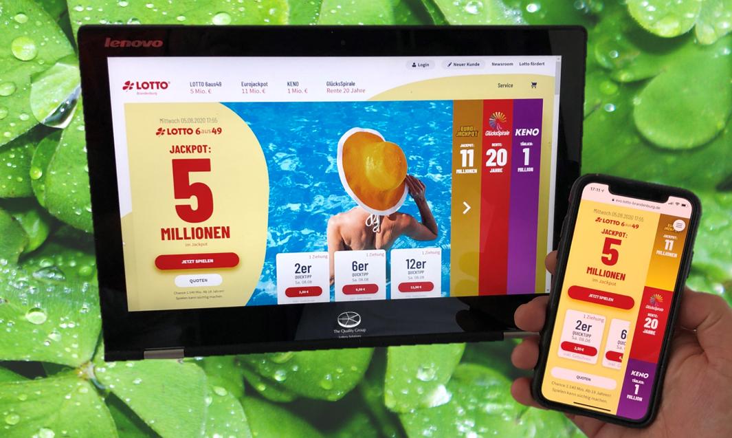 Lotto Brandenburg mit neuem Internetauftritt von TQG